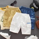 男童運動短褲韓版兒童夏季工裝褲寶寶休閒短褲中褲男孩五分褲洋氣 格蘭小舖