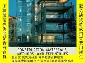 二手書博民逛書店Construction罕見Materials, Methods and Techniques: Building