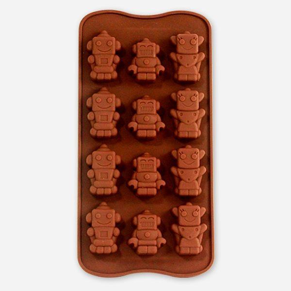 【香草工房】機器人矽膠模-三款12穴