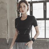 春夏運動短袖T恤速干透氣顯瘦半袖緊身跑步瑜伽服訓練健身上衣薄