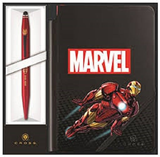 CROSS TECH2 MARVEL COLLECTION 兩用原子筆+筆記本 鋼鐵人~限量版禮盒組
