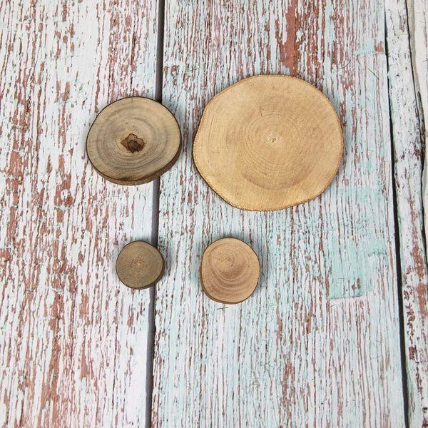 BEAGLE 大:約 6-7CM 擺件 底座 小圓木 圓木片 實木片 松木 苔蘚微景觀飾品 方木
