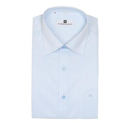 【南紡購物中心】【PIERRE BALMAIN 皮爾帕門】長袖襯衫-淺藍光澤條紋(F1)