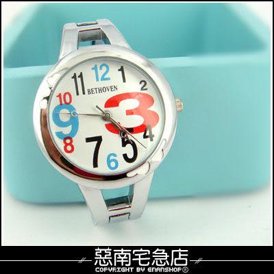 惡南宅急店【0349F】可愛動人‧韓國空運 女錶嚴選『俏麗數字腕錶』手錶‧單價(多款)