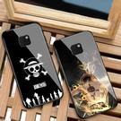 三星S20玻璃殼保護殼 SamSung Note10 Lite海賊王手機套 Galaxy S20+保護套 三星S20 Ultra卡通路飛手機殼