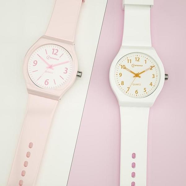 新品手錶女韓版簡約考試手錶防水學生石英錶 萬客居
