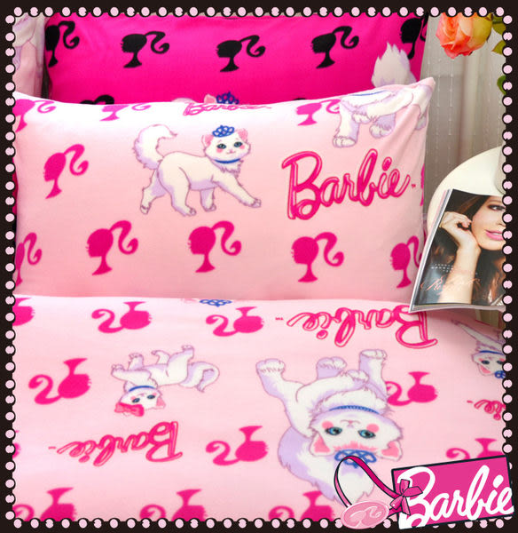 【Barbie】波斯公主貓-雪芙絨被套毯《Persian Princess《嫩兔粉》》