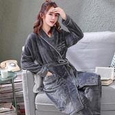【春季上新】睡袍女冬珊瑚絨浴袍睡袍長款法蘭絨睡衣女士秋冬季浴衣兩件套裝