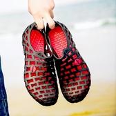 洞洞鞋男士涼鞋年新款包頭涼鞋男夏ins潮兩用涼拖鞋男沙灘鞋