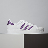 Adidas Superstar W 女款 白紫 經典 復古 休閒鞋 EE9152
