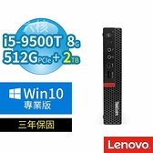 【南紡購物中心】聯想 ThinkCentre M720 迷你商用電腦 i5-9500T/8G/512G+2TB/Win10專業版