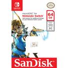 [哈GAME族]免運費●官方授權●SanDisk 任天堂 Nintendo SWITCH 專用 U3 microSDXC 64G 記憶卡 圖騰白卡