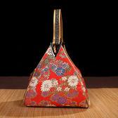 中國風錦緞手拎包中式女士小包民族特色復古包手提包送老外小禮品【onecity】