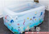 嬰兒游泳池寶寶家用充氣泳池嬰幼兒水池0-12個月新生兒保溫游戲池igo  蓓娜衣都