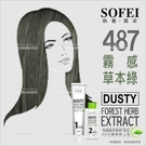 舒妃SOFEI型色家植萃添加護髮染髮霜(487霧感草本綠)[59127]
