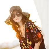 夏天沙灘遮陽帽子 韓版大沿太陽草帽m25