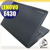 【EZstick】Lenovo ThinkPad E430 系列專用Carbon黑色立體紋機身貼 (含上蓋及鍵盤週圍) DIY包膜