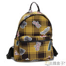 後背包-法國盒子.俏皮新元素美式塗鴉後背包(共二色)T02-3