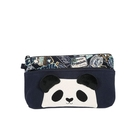 毛茸茸熊貓化妝包/收納袋/拼布包包