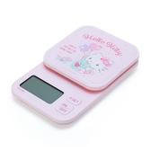小禮堂 Hello Kitty 方形壓克力電子磅秤  電子秤 計量秤 料理秤 (粉 汽球) 4550337-06980