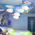 吸頂燈◆藍色美國風飛機吸頂燈◆5燈❖歐曼尼❖