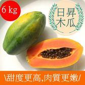 【樂品食尚】產銷履歷-超嫩品種『日陞』網室木瓜6kg(免運宅配)