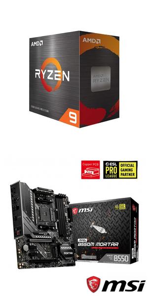 【自組DIY兩件組R58】AMD R7 5800X+微星 B550M MORTAR