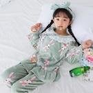 兒童睡衣女童冬季珊瑚絨加厚中大童女孩寶寶法蘭絨家居服親子套裝【淘夢屋】