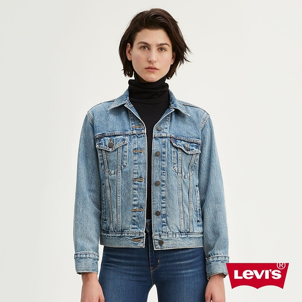 Levis X Google 女款 第二代Jacquard 智慧牛仔外套 / Boyfriend寬鬆版型 / 中藍水洗