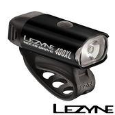 LEZYNE HECTO DRIVE 400XL USB充電光學透鏡LED都會騎乘照明警示前燈(黑)