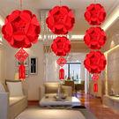 創意 新年 過年佈置 春節裝飾 大號繡球...