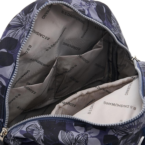 B.S.D.S冰山袋鼠 - 楓糖瑪芝 - 輕旅多口袋後背包+側背小包2件組 - 花繪風【Z043-1+001BF】