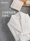 睡袍女冬季珊瑚絨浴袍情侶加絨加厚加長款法蘭絨睡衣男士秋冬款春 黛尼時尚精品