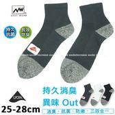 短襪 導氣網抗菌消臭襪  加大  1/2襪 台灣製 ANUAN
