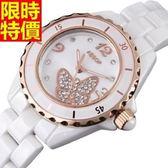 鑽錶-好搭復古有型女腕錶2色5j143[巴黎精品]