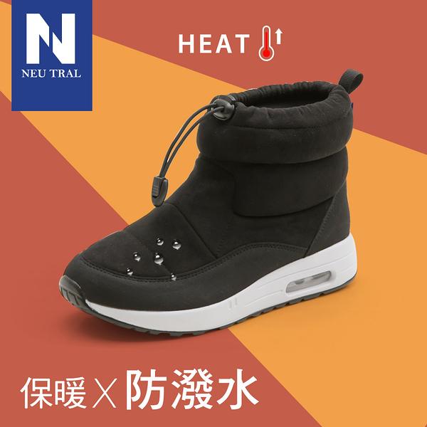 靴.防潑水束口內增高氣墊靴(黑)-FM時尚美鞋-NeuTral.Popular