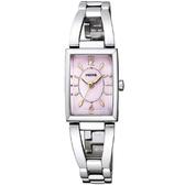 【台南 時代鐘錶 CITIZEN】星辰 Wicca 公主系列 甜美氣質太陽能腕錶 KF7-511-91 粉紅/銀 24mm