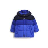 Gap男嬰兒 連帽鋪棉保暖厚外套短款 473872-寶藍色