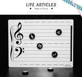 【小麥老師 樂器館】磁性白板 白板 台灣製 雙面可書寫 B5002【A786】音符磁性白板 另有 磁鐵
