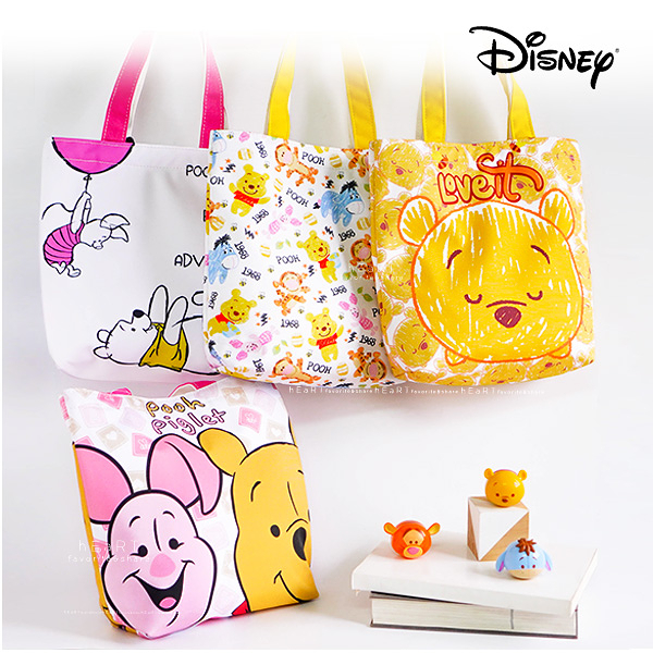 迪士尼手提便當包 小熊維尼系列 飯盒包 便當袋 手提袋 單肩包