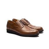 Waltz-簡單雕花休閒紳士鞋 514057-06棕
