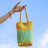 水杯袋手提袋簡約時尚便攜大容量保護套收納包【時尚大衣櫥】
