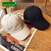 (好康免運)街頭軟頂復古棒球帽子女韓版休閒百搭杏色遮陽鴨舌帽