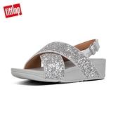 新降66折【FitFlop】LULU GLITTER BACK-STRAP SANDALS 經典亮片後帶涼鞋-女(銀色)