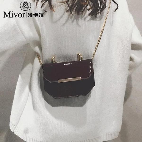 包包女新款時尚可愛少女單肩斜挎包包個性百搭鏈條小方包