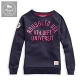 【Roush】 女生立體膠印貼布刷毛大學TEE -【912528】