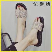 外穿拖鞋 涼拖鞋外穿平底韓版時尚百搭復古港風