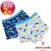 Pierre Cardin皮爾卡登 男兒童恐龍家族平口褲-混色2件組(137002-1)