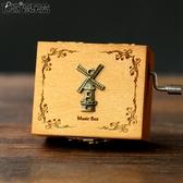 音樂盒復古木質迷你照片八音盒 創意生日禮物送男女生女