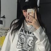 長袖T恤櫻田川島韓版初秋女裝新款潮網紅寬鬆BF打底衫長袖T恤上衣 交換禮物